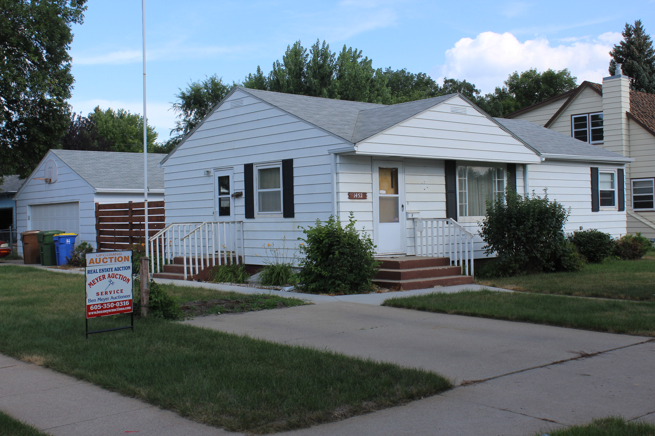 Sep. 12th 6pm ~ House Auction 1452 Utah Ave SE, Huron, SD